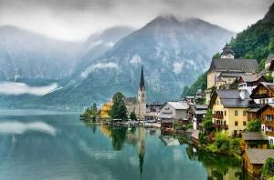 Пасмурный курорт в Австрии