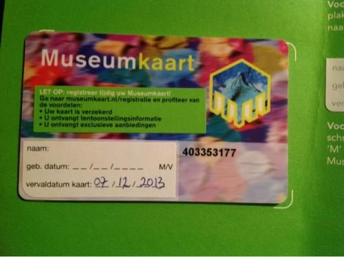 Музейная карта (Museumkaart)